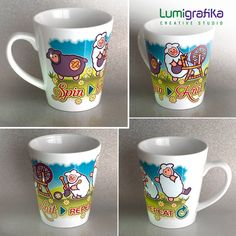 Novelty Mugs for Spinners Knitters Weavers and Crocheters Crochet Tools, Novelty Mugs, Love My Husband, Ceramic Mugs, Creative Studio, Coffee Break, No One Loves Me, Ceramics, Crafty