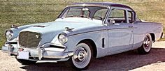 1956 Studebaker Golden Hawk  Born from the 1953 – '55 Sport Coupe this new edition packed the punch that it's predecessor lacked with a 275hp V-8 borrowed from Packard this Stude was race ready other Hawk models included Sky Hawk, Power Hawk and Flight Hawk  Cost: $3,061.00
