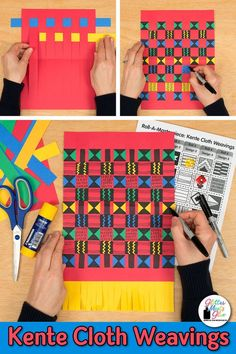 Most current Photos paper weaving art Ideas Learn art history while creating this African kente cloth art lesson for kids. This fun paper weavi African Art For Kids, African Art Projects, African Crafts Kids, Art Lessons For Kids, Art Lessons Elementary, Elementary Art Education, Color Art Lessons, Game Art, Art Sub Plans
