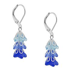 Lazy Day Lily Earrings   Fusion Beads Inspiration Gallery.  #inspirationinbloom