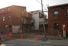 Vanishing Montreal: Before & After :  From yard to duplex on Ste-Emili...