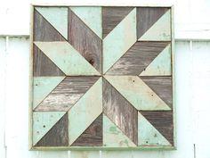 wooden barn quilt, salvaged barn quilt, geometric art quilt block