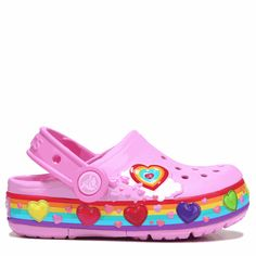 62fe63928134c Crocs Kids  Fun Lab Heart Lights Sandal Toddler Preschool Shoes (Carnation  Pink)