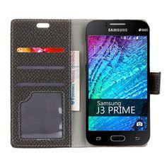 Wallet Case For Samsung Galaxy J3 Prime Weave Grain PU Leather Phone Bag Case For Samsung Galaxy J3 Prime J3Prime Flip Cover
