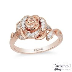 Diamond Rose Ring in Rose Gold - Peoples Jewellers Enchanted Disney Belle CT. Diamond Rose Ring in Rose Gold - - View All Rings - Peoples Jewellers Wedding Rings Rose Gold, Rose Gold Jewelry, Rose Rings, Gold Wedding, Flower Rings, Diamond Jewelry, Wedding Gifts, Pandora Rose Gold Rings, Rose Gold Promise Ring