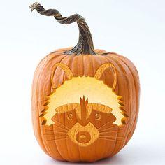 woodland Pumpkin Stencil