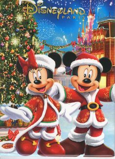 Christmas - Disney - Mickey & Minnie Mouse Disneyland Paris Disney DLP Magnet Christmas