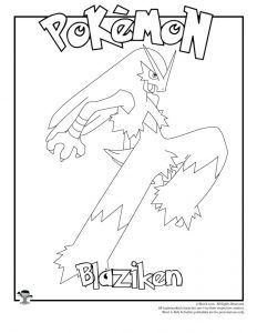 Blaziken Coloring Page Coloring Pages Pokemon Coloring Pokemon
