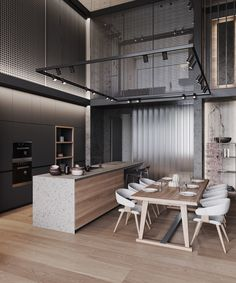 Luxury Home Decor, Luxury Homes, Stone Feature Wall, Loft Interior, White Room Decor, Budget Home Decorating, Wood Cladding, Bathroom Design Luxury, Custom Made Furniture