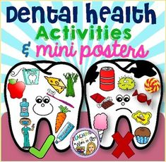 Dental Health Sorting Activity and Mini Posters health education health education activities health education for kids health education fun health education lesson plans health education tips Health Activities, Sorting Activities, Activities For Kids, Space Activities, Dental Health Month, Oral Health, Health Fair, Health Lessons, Health Advice