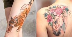 Just when you thought you knew watercolor tattoos, Aga Yadou comes along and changes the game.