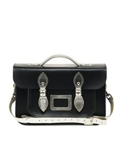 "Enlarge The Leather Satchel Company Large Leather 14"" Satchel"