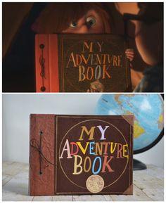 """Boda inspirada en 'Up': """"Mi diario de aventuras"""" como libro de firmas"""