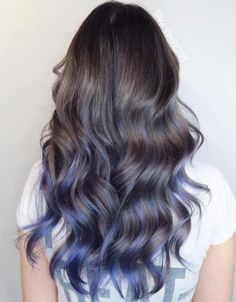 50 Cool Ideas of Lavender Ombre Hair and Purple Ombre - 50 Cool Ideas of Lavender Ombre Hair and Purple Ombre Pastel Blue Balayage For Brown Hair Brown Ombre Hair, Light Brown Hair, Brown Hair Dyed Blue, Ash Blue Hair, Light Blue Ombre Hair, Gray Hair, Light Purple, Blue Tips Hair, Silver Blue Hair
