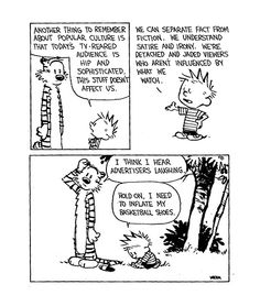 calvin and hobbes - i hear the advertisers laughing