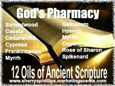 "I read the book, Healing Oils of the Bible. It was a fascinating read. The word ""Messiah"" means anointed one!"