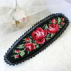 VK is the largest European social network with more than 100 million active users. Beaded Ornaments, Ribbon Embroidery, Beading Patterns, Needlework, Diy And Crafts, Photo Wall, Cross Stitch, Hair Accessories, Beaded Bracelets