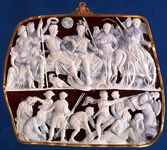 Gemma Augustea, cameo showing the crowning of Caesar Augustus by the gods