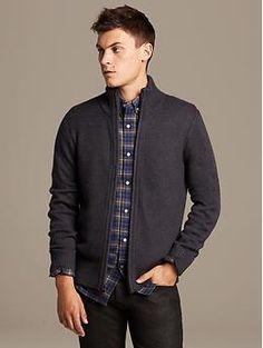 Textured Sweater Jacket.  Banana Republic.
