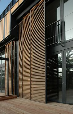 sliding exterior louver system | Villa Artes