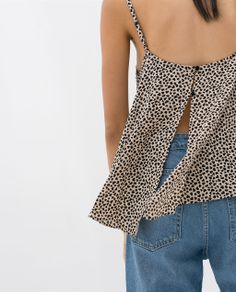 HEART PRINT TANK TOP from Zara
