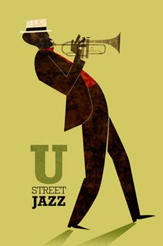 Jamey Christoph Illustrations - Music in Black and Green - Jazz Festival Jazz, Festival Posters, Concert Posters, Jazz Poster, Poster Art, Poster Prints, Jazz Art, Music Illustration, Jazz Blues