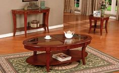 #ambfurniture.com         #table                    #A.M.B. #Furniture #Design #Living #room #furniture #Coffee #table #sets #Cherry #finish #wood #contemporary #style #oval #coffee #table #tables #with #glass #inserts                A.M.B. Furniture & Design :: Living room furniture :: Coffee table sets :: 3 pc Cherry finish wood contemporary style oval coffee table and end tables with glass inserts                                       http://www.seapai.com/product.aspx?PID=1306328