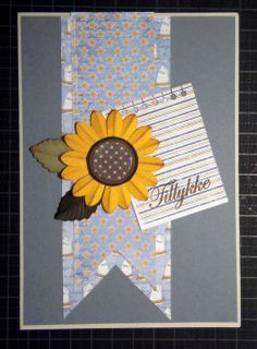 "card - kort - sunflower - Maja design ""Life by the sea"" paper #majadesign"