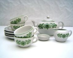 Vintage 1960s ceramic children's tea set
