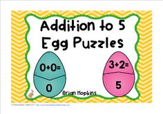 FREEBIE  Easter Egg Addition to 5 Puzzles