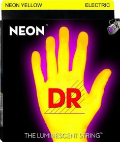 DR Strings NYE-10 Nickel Coated Electric Guitar Strings, Medium by DR Strings. $5.99. NEON Hi-Def Yellow Electric 10-46. Super bright colors that will sound clear, bright and musical. NEON's are 100% black light active and will glow under any UV light source.