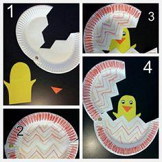 osterbasteln kindern ideen papier pappteller k ken ausbr ten Spring Crafts For Kids, Daycare Crafts, Classroom Crafts, Easter Crafts For Kids, Toddler Crafts, Preschool Crafts, Fun Crafts, Art For Kids, Children Crafts