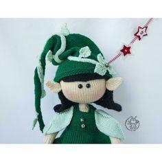 Elf doll knitted flat Knitting pattern by Boucle Yarn, Elf Doll, Lang Yarns, Plymouth Yarn, Cascade Yarn, Paintbox Yarn, Dog Sweaters, Red Heart Yarn, Yarn Brands