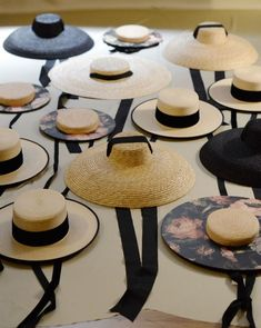 Wide brimmed straw hats with ribbons - so feminine and stylish #hats #fashion #accessories