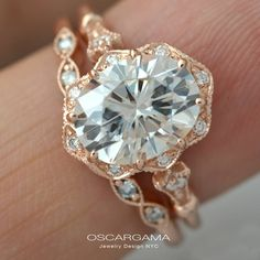 Oval Engagement ring 9x7 or 8X6 or 7x5 Moissanite Forever