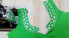 Beautiful Latest Neck Design DIY Patch Work Blouse Designs, Blouse Back Neck Designs, Kurti Neck Designs, Fancy Blouse Designs, Dress Designs, Saree Blouse Patterns, Designer Blouse Patterns, Simple Sarees, Neck Pattern