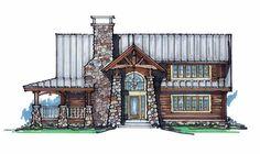 Maple Leaf Lodge Front Elevation -- Natural Element Homes
