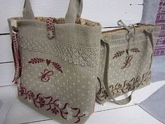 Embroidery Bags, Embroidery Monogram, Fabric Purses, Fabric Bags, Handmade Purses, Purse Patterns, My Bags, Bag Making, Purses And Handbags