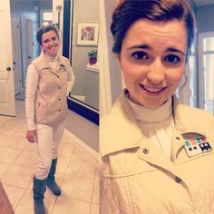Leia cosplay that's a little different to the usual outfits. Great effort by Marta https://www.instagram.com/murtle17/ #StarWars