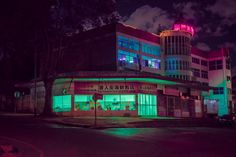 "wetheurban: "" Nightscapes, Elsa Bleda Based between the cities of Istanbul and Johannesburg, photographer Elsa Bleda has a unique aesthetic that is both cinematic and dystopian. In her latest work..."