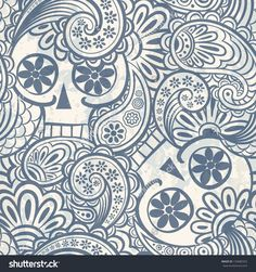 Find Seamless Pattern Skulls Paisley stock images in HD and millions of other royalty-free stock photos, illustrations and vectors in the Shutterstock collection. Mandala Tattoo Shoulder, Paisley Shoulder Tattoos, Paisley Art, Free Vector Art, Textured Background, Royalty Free Stock Photos, Tapestry, Abstract, Illustration
