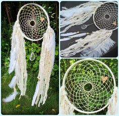 Dream Catcher - Willow- shabby chic - cottage chic -  boho - white -  romantic - vintage chandelier crystals - dreamcatcher Shabby Chic Beach, Shabby Chic Cottage, Boho Chic, Bohemian, Chandelier Crystals, Chandeliers, Vintage Chandelier, Dreamcatchers, Apartment Ideas