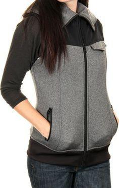 Burton Women's Starr Vest Hoodie - true black heather - Women's > Women's Clothing > Women's Hoodies & Sweatshirts > Women's Hoodies