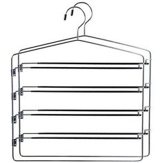 Pants Organizer w/ Hook for Pants Skirt Ties Accessories Swing Arm Hanger, Silver – pants hangers closet Wardrobe Organisation, Home Organization, Wardrobe Ideas, Ikea Pax Wardrobe, Wardrobe Doors, Built In Wardrobe, Wardrobe Wall, Pants Rack
