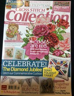 Cross Stitch Collection May 2012 Diamond Jubilee Elephants UK Magazine 209 #CrossStitchCollection