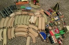 Thomas The Train and bio  Mixed Lot Of Wooden Train Track And Train Carts…