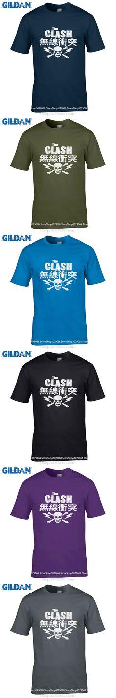 9f9eda9aaa7 GILDAN casual t-shirt Fashion Men And Woman T Shirt Free Shipping The Clash  Japanese