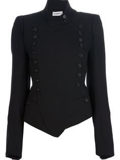 Ann Demeulemeester Fitted Military Jacket - Vitkac - Farfetch.com