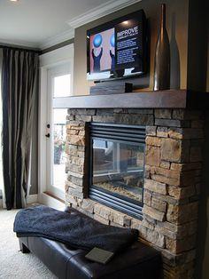 Fireplace through to Bathroom