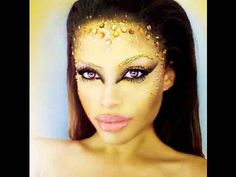 ▶ Golden Goddess Costume Makeup - YouTube This reminds me a little of Aliyah's makeup in Queen of the Damned.